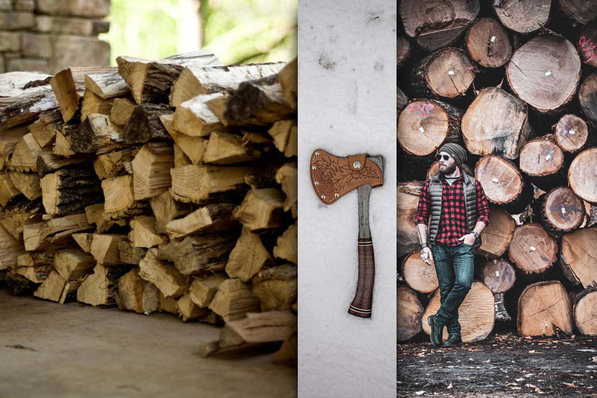 Collage - Holz spalten