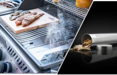 Collage Ambientebild Smoken und Produktbild einer Räucherpfeife mit Räucherchips