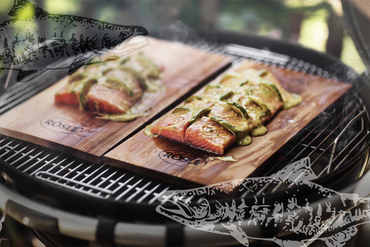 Rösle Räucherplanken auf dem Grill
