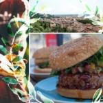 Mediterraner Cheeseburger vom Grill