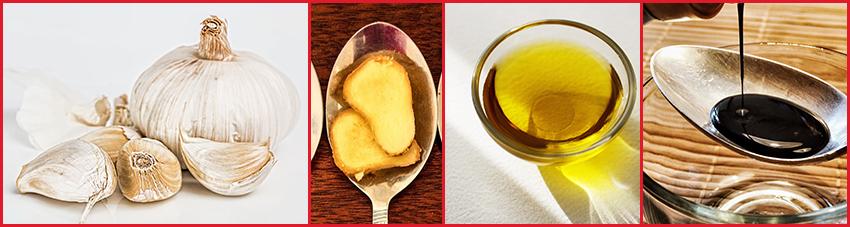 Zutaten für einfache Ingwer-Marinade mit Sojasauce