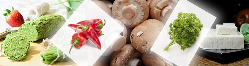Zutaten für gefüllte vegetarische Champignons vom Grill