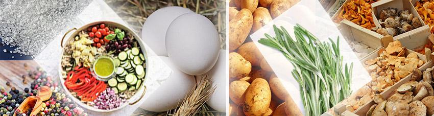 Zutaten-vegetarische-Pilzpfanne-vom-Grill