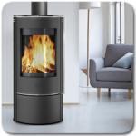 Ambientebild mit dem Kaminofen Rondale Glas von Fireplace