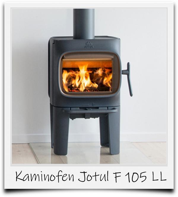Polaroidbild vom Kaminofen F 105 LL von Jotul