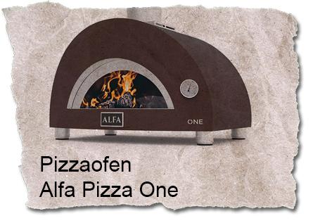 Holzbackofen Alfa Pizza One