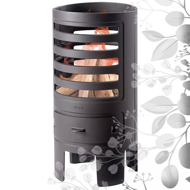 weiterführendes Produktbild Terrassenofen Leda Feuersturm