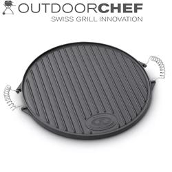 Produktbild Outdoorchef 2-seitige Grillplatte M Gusseisen