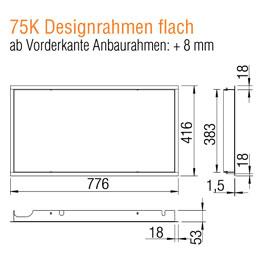 Kamineinsatz Austroflamm 75x39 K 2.0 Designrahmen