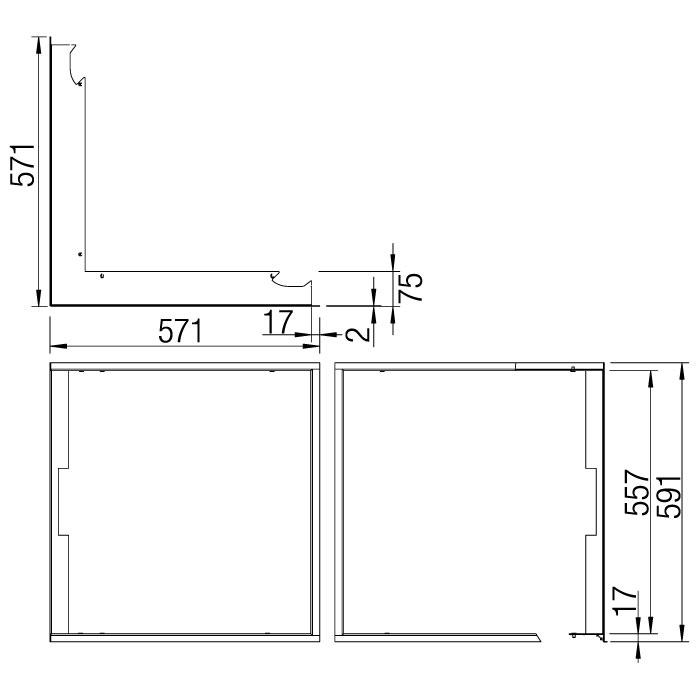 Kamineinsatz Austroflamm 55x55 K 2.0 Eck Designrahmen