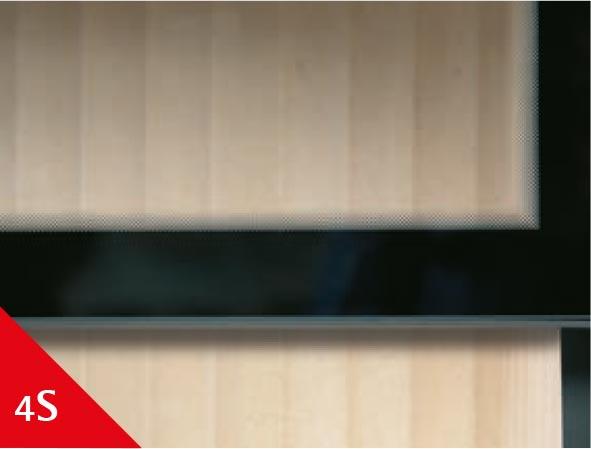 Spartherm 4-seitig bedrucktes Sichtglas