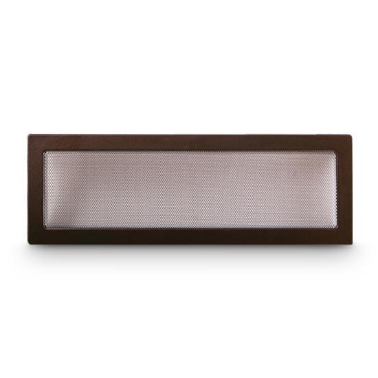 Kaltluftgitter 17x50 cm Kamin Lüftungsgitter Ofen Gitter Kupfer Antik