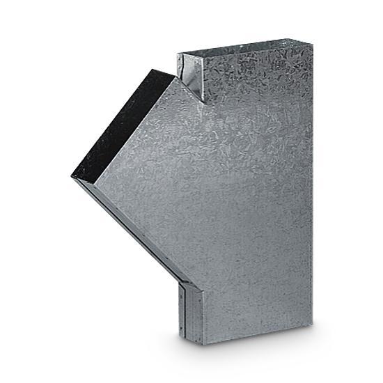 T-Stück Schacht AA-Kaminwelt 150 x 50 mm 45°