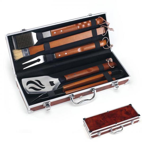 Grillzubehör Palazzetti Grillbesteck 5-teilig im Koffer Edelstahl