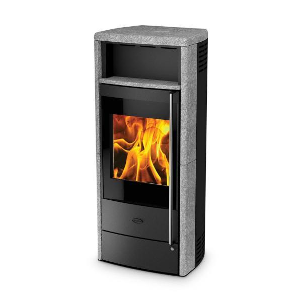 Dauerbrandofen Fireplace Teramo RLU Speckstein 6 kW