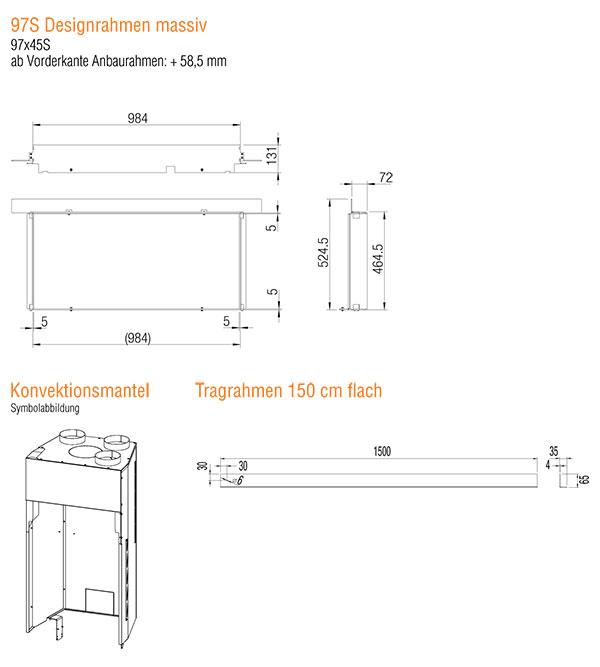 Kamineinsatz Austroflamm 97x45 S 2.0 Zubehör