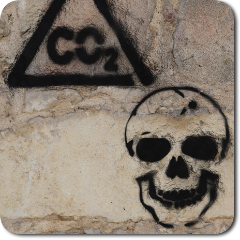 Bild mit Kohlenstoffmonoxid Graffiti