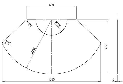 Kaminofen Olsberg Palena Plus Compact Vorlegeplatte