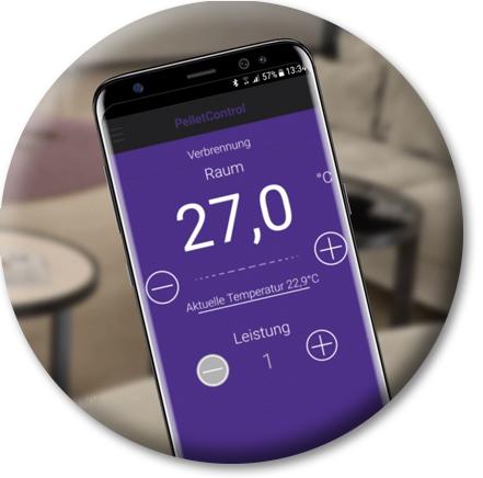 Pelletofen mit dem Smartphone steuern