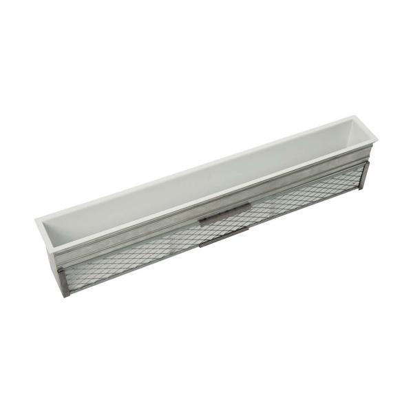 Kaminluftleiste CB-Tec Luftleiste Weiß mit Einbaurahmen
