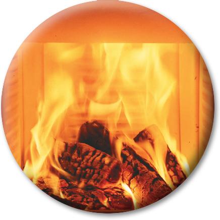 Produktdetailansicht mit Fokus auf die mit Keramott ausgekleidete Brennkammer