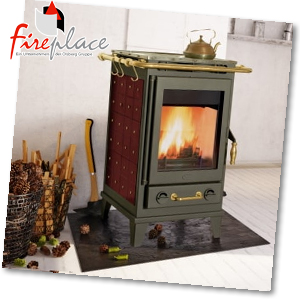 Fireplace Florenz Keramik Bordeaux