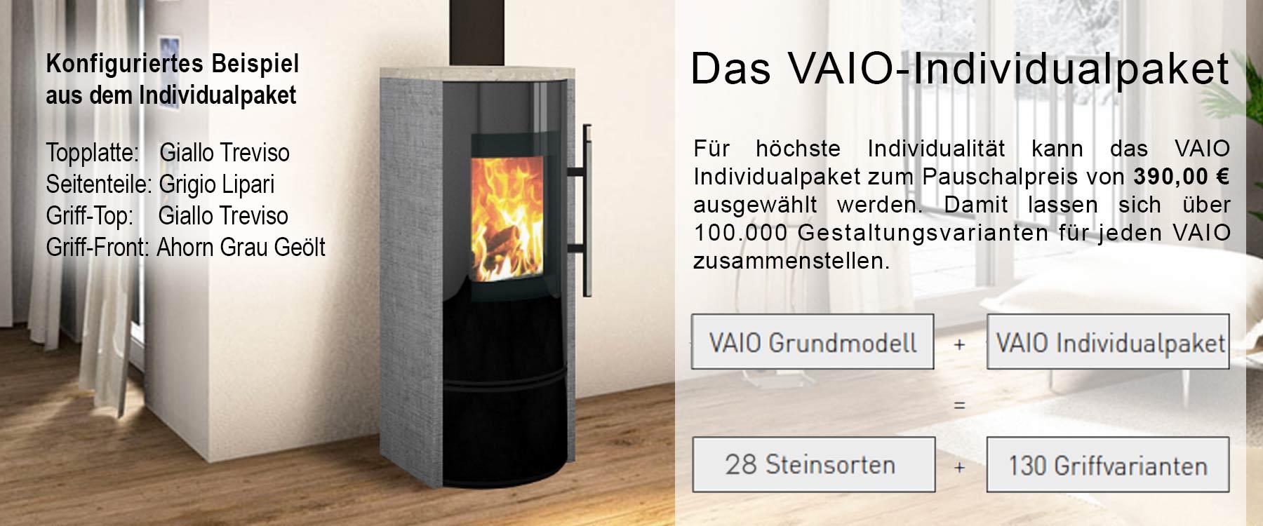 Ambientebild mit einem konfigurierten Vaio 4 Ofen im Individualpaket