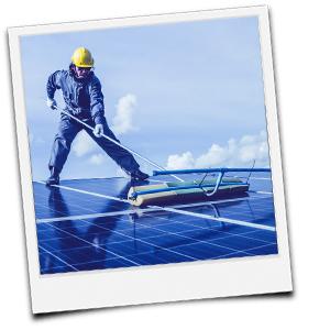 Solaranlage putzen