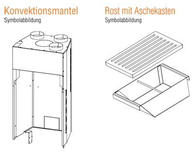 Kamineinsatz Austroflamm 45x51 K II Flach Zubehör