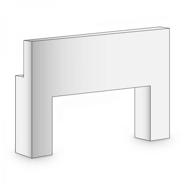 BRULApor Ganzteilsockel mit Ausschnitt, Länge 600 mm