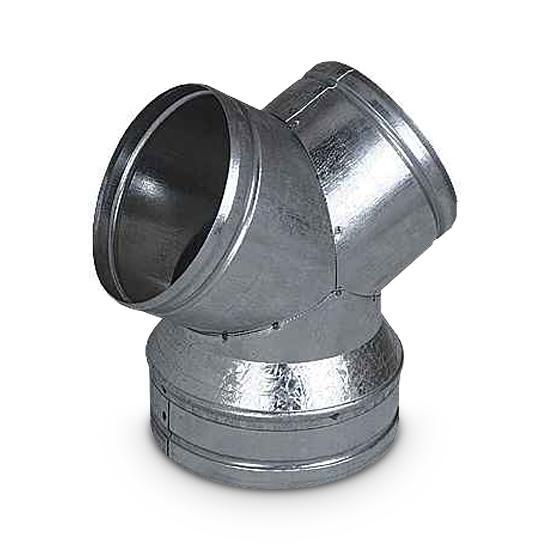 Reduzierung Gabelrohr Y-Stück AA-Kaminwelt DN 125 / 2 x DN 100 mm