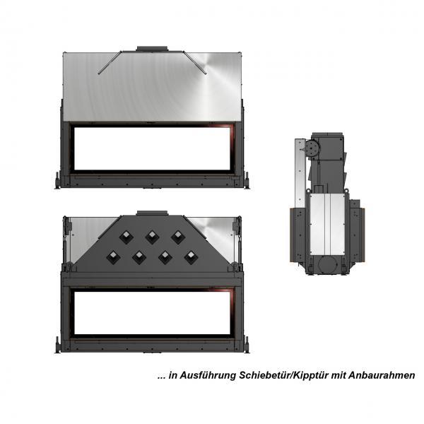 Kamineinsatz Brunner Architektur-Kamin 53/166 Tunnel 17 kW
