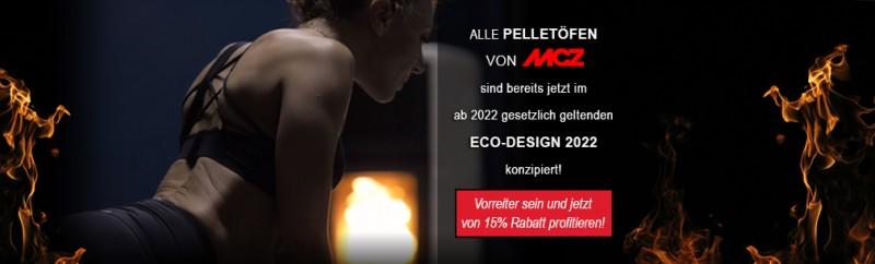 15% bei MCZ Pelletöfen sparen und ECO-Design-Vorreiter sein!