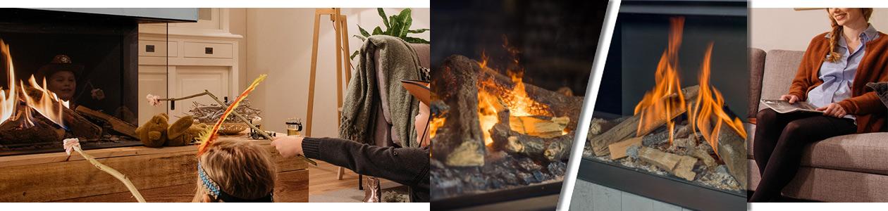 familiäres Ambiente und unterschiedliche Flammenbilder