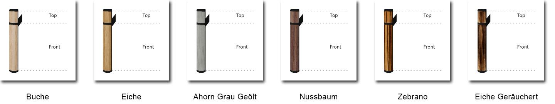 Bild mit 6 Gestaltungsvarianten einfarbiger Türgriffe