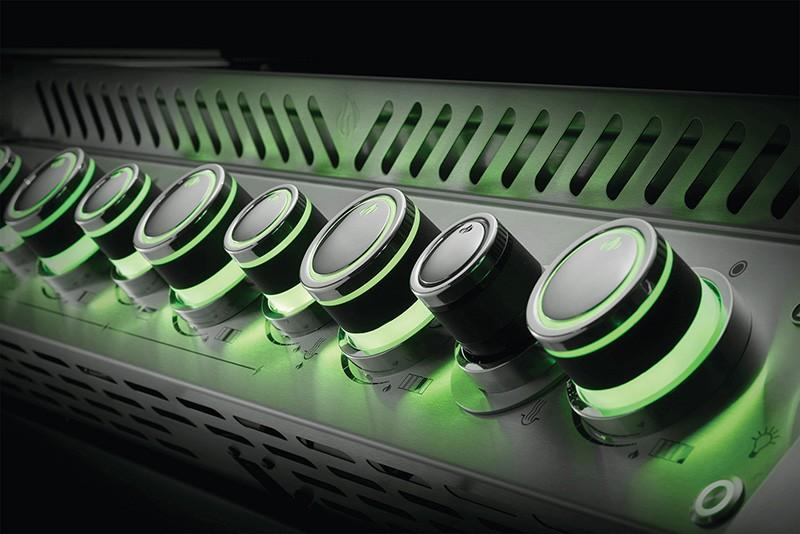 Drehregler grün leuchtend