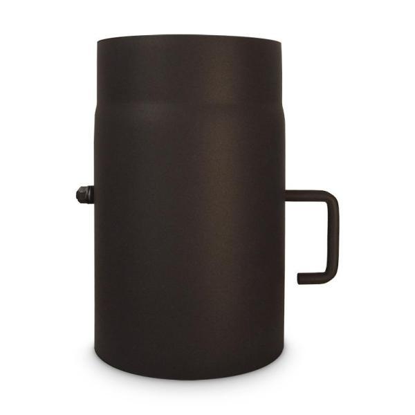 Ofenrohr mit Drosselklappe DN 150 Länge 250 mm Metallic Braun