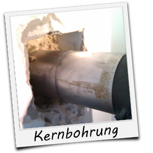 Kernbohrung in Mietwohnung