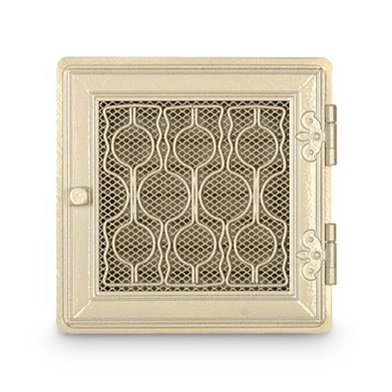 Stil Kamin Warmluftgitter 24 x 24 cm Weiß Antik Ofen Gitter