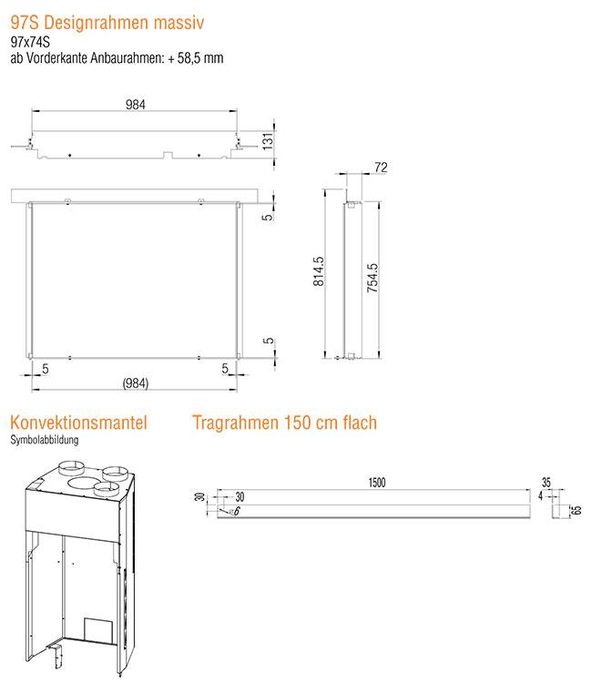 Kamineinsatz Austroflamm 97x74 S 2.0 Zubehör