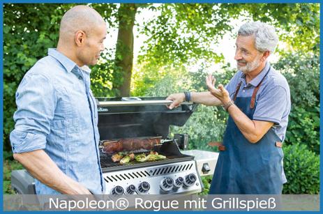 Zaubern Sie Grillspießgerichte mit dem Napoleon Rogue!