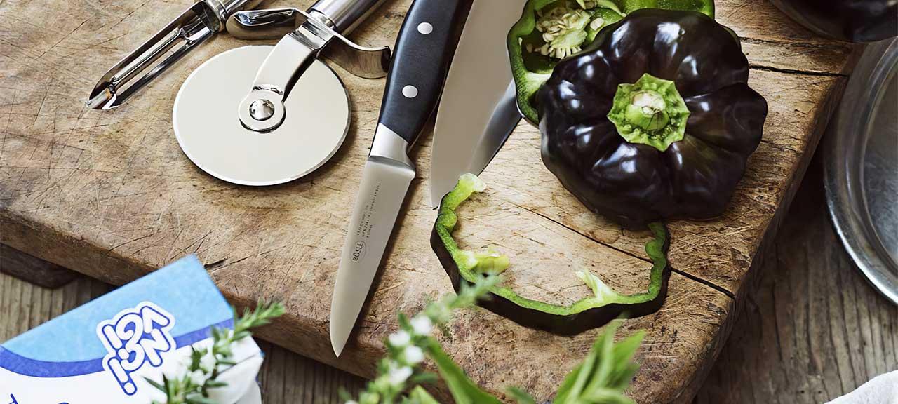Grillbesteck Rösle Cuisine Gemüsemesser 9 cm Anwendungsbeispiel