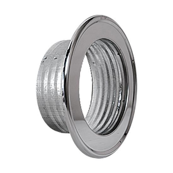 Rosette für Thermo- u. Aluflexrohr AA-Kaminwelt d 120 mm Chrom