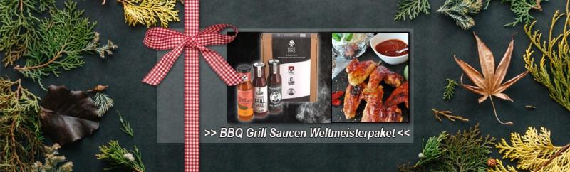 Black BBQ Grill Saucen Weltmeisterpaket: von pikant scharf bis exotisch, fruchtige süß