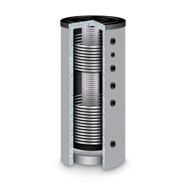 Hygienespeicher TWL Typ KER2, 500 l mit 2 Wärmetauschern