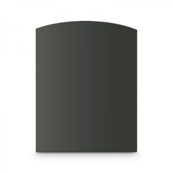 Kaminbodenplatte AA-Kaminwelt Zunge flach Stahlblech Grau