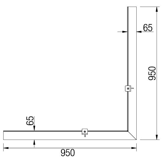 Kamineinsatz Austroflamm 55x55x51 S 2.0 Eck Tragrahmen