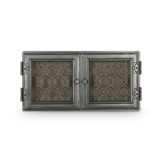 Stil Kamin Kaltluftgitter 24 x 47 cm Graphit Ofen Gitter