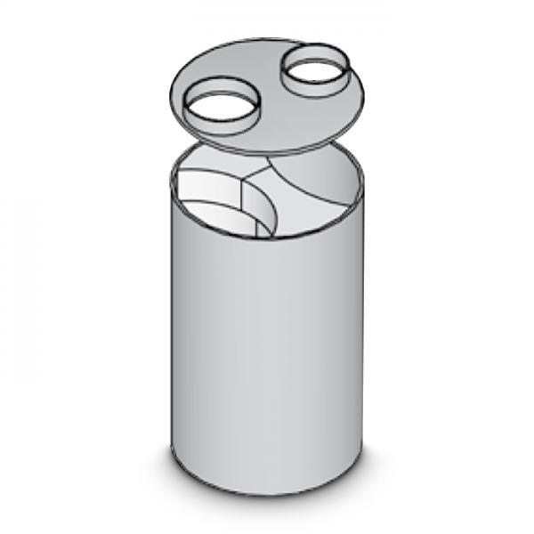 BRULA Modul-Rundheizkasten DN 470 mm Heizregister