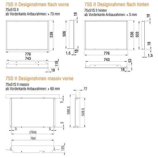 Kamineinsatz Austroflamm 75x57 S II 2.0 Designrahmen